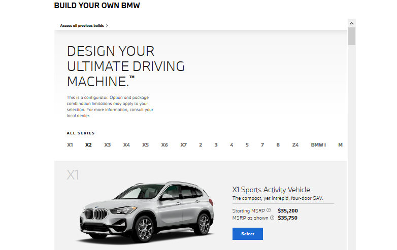 BMW's upselling tactic