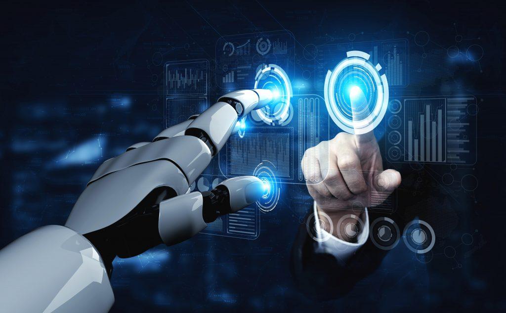 A robot and a human touching fingers - Image Source: freepik.com