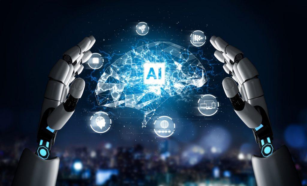Robotic hands with a futuristic human brain - Image Source: freepik.com