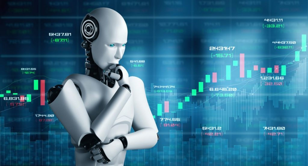 future-financial-technology-controlled-by-ai-robot-using-machine-learning-artificial-intelligence-analyze-business-data-give-advice-investment-trading-decision-3d-illustration-min
